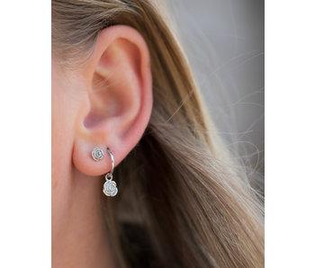 KARMA Echt zilver Oorbellen of earstuds met roos