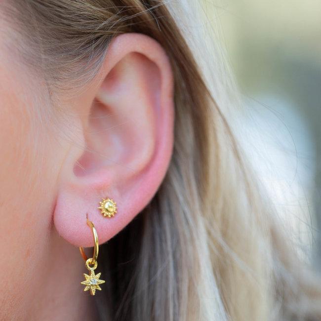 KARMA Morningstar goud oorbellen hoops