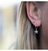 KARMA Karma zilver oorbellen met ster en crystal steentjes