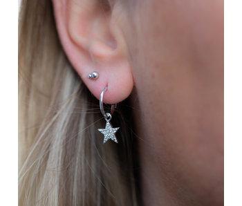 KARMA Zilver oorringen bright star zilver