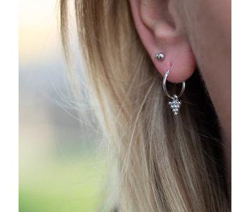 KARMA Zilver oorbellen dots triangle