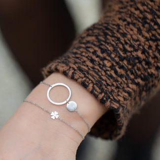 ZAG  Bijoux Armband zilver met open en dicht rondje