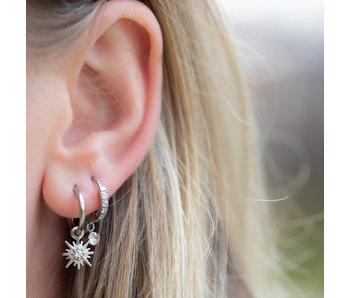 By Jam Gioielli Oorbellen zilver ster met crystal steentje