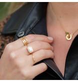 ZAG  Bijoux ketting goud verbonden ringen