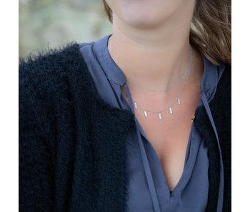 ZAG  Bijoux Zilver stalen dubbele ketting met tubes