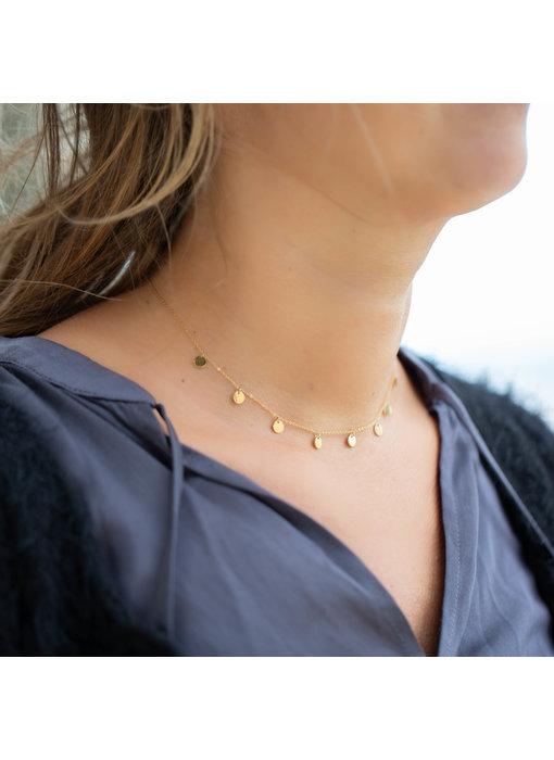 ZAG  Bijoux gouden ketting met muntjes