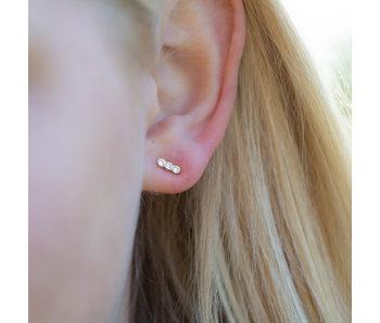 Biba Goud oorstekers met crystal