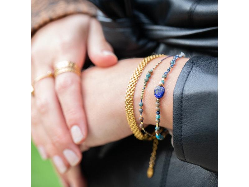 KalliKalli Gouden schakelmatje armband subtiel