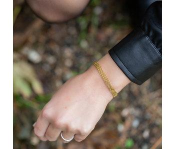 Kalli Kalli Gouden schakelmatje armband subtiel