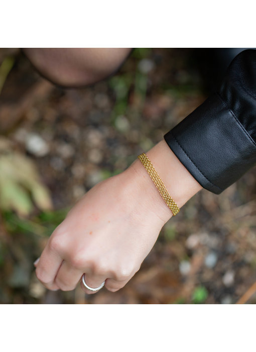 ZAG  Bijoux Gouden schakelmatje armband subtiel