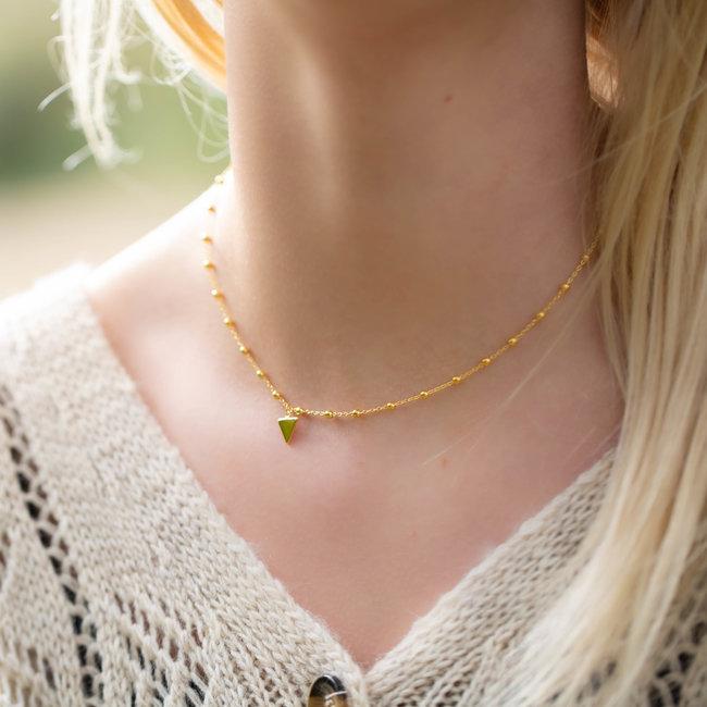 KARMA Karma Dots Necklace Triangle Goldplated