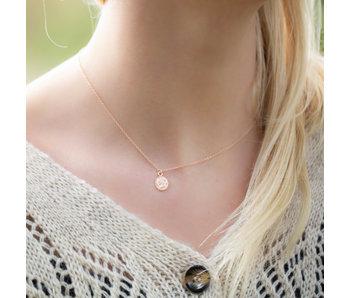 KARMA Karma Necklace Coin Rosegold