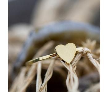 Charmins Ring goud hart