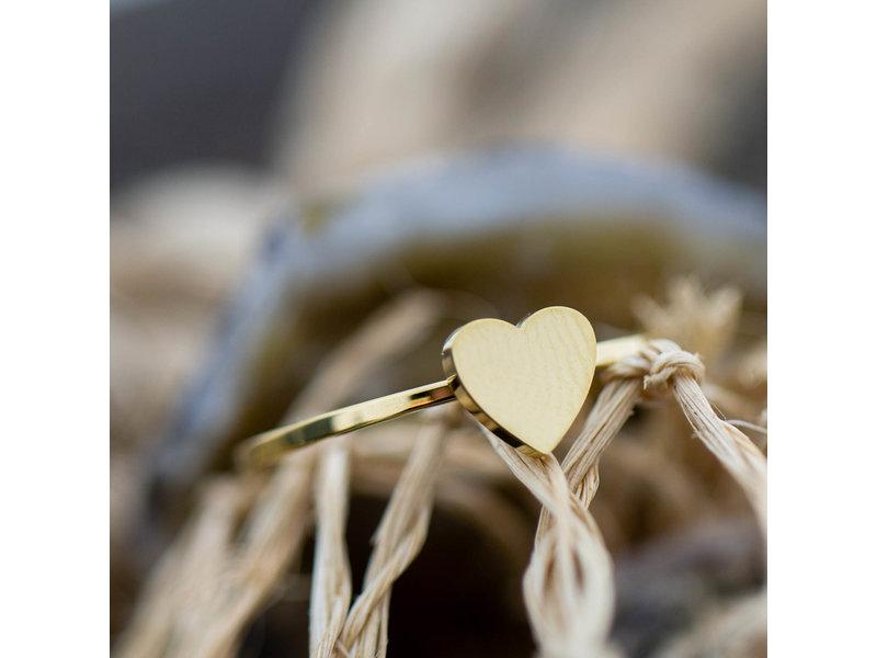 Charmins Ring goud hart charmin