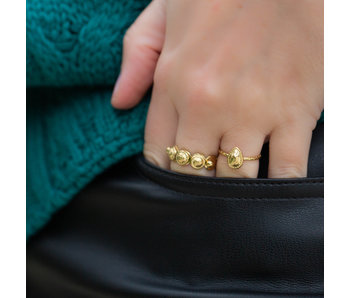 Biba Ringen goud bol en druppel