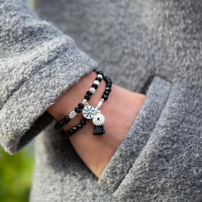 Biba Zwarte armbandenset met bedels