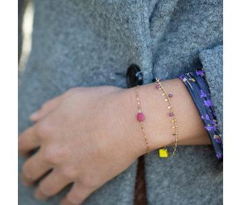 ZAG  Bijoux Gouden armband met rode steen