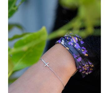 ZAG  Bijoux armband zilver met kruisje