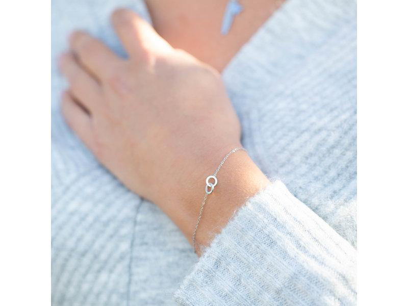 Go Dutch Label Zilver armband twee cirkels