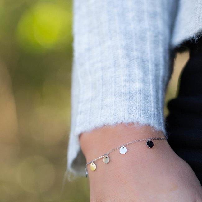 ZAG  Bijoux armband zilver met muntjes
