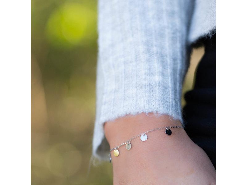ZAG  Bijoux armband zilver met muntjes / coins