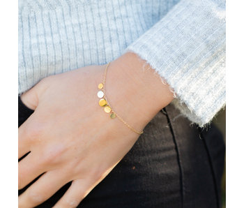ZAG  Bijoux armband goud muntjes