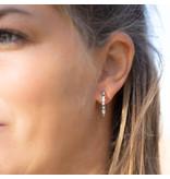 Go Dutch Label Zilver oorbellen met crystal steentjes