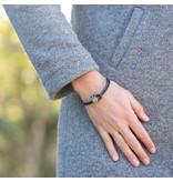 Zeeuws Zwarte vintage leren armband zeeuwse knop