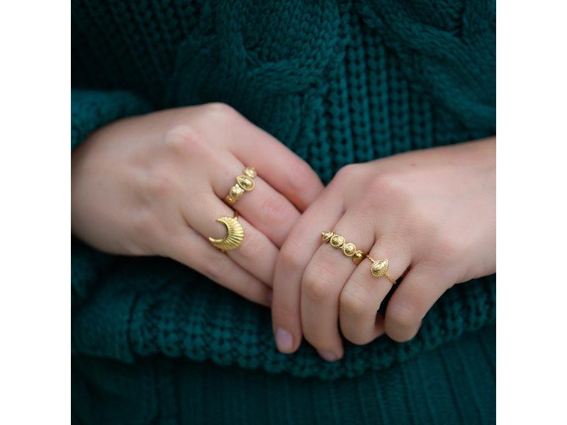 Biba Ring goud druppel en bolletjes