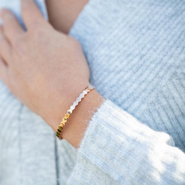 KalliKalli Bangle armband rosegoud raat