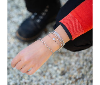 KalliKalli Grote schakel armband zilver