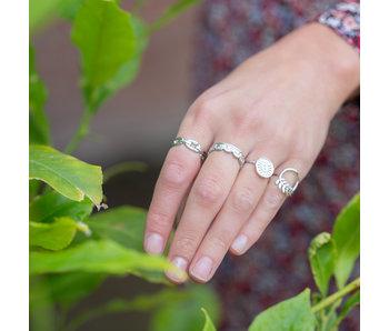 Beadle Ringen feestje zilver