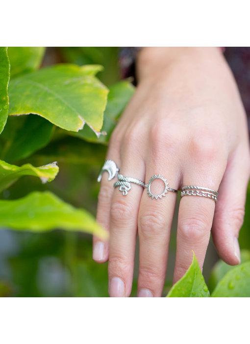 Beadle Zilver bohemian ringen