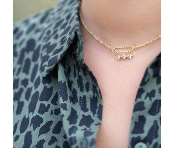 ZAG  Bijoux Zag bijoux ketting goud crystal steentjes