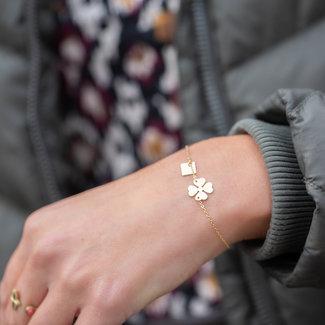 ZAG  Bijoux armband goud met klaver
