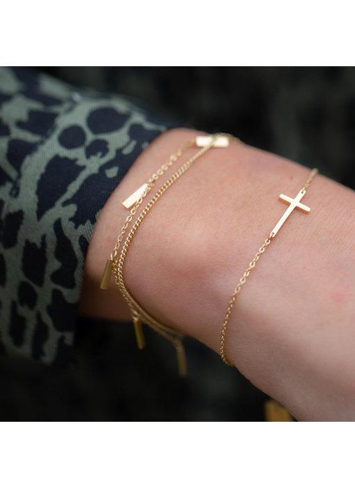 ZAG  Bijoux armband goud met kruis