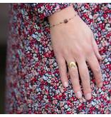 Beadle Goud maan ring