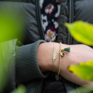 ZAG  Bijoux armband goud veer