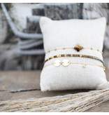 ZAG  Bijoux Goud armband dubbel bruin