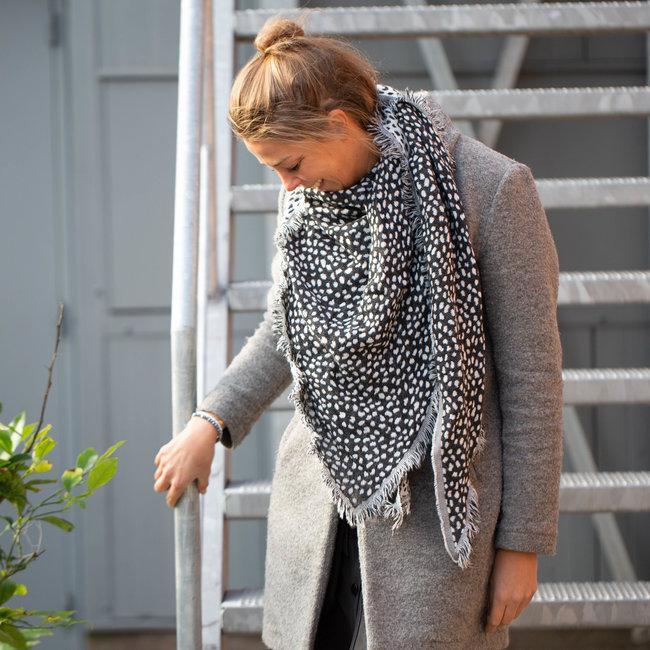Supertrendy reversible sjaal grijs