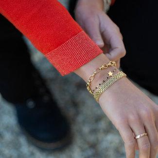 KalliKalli goud schakelarmband matje
