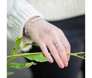 ZAG  Bijoux Zilveren ring met V