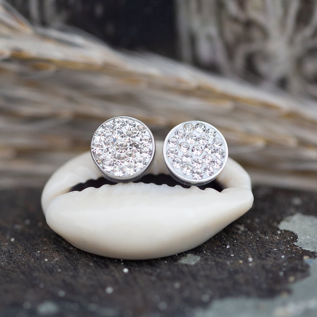 IXXXI top part crystal stones zilver