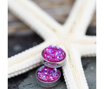 IXXXI top part drusy pink zilver
