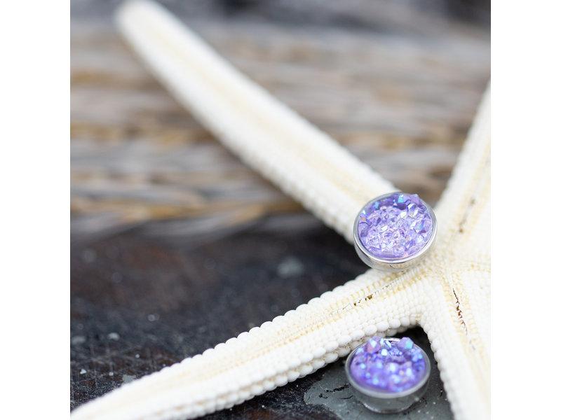 IXXXI top part drusy purple zilver