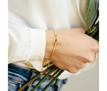 Beadle goud stalen armband matje