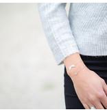 ZAG  Bijoux Zilver armband mint balletje of vleugels