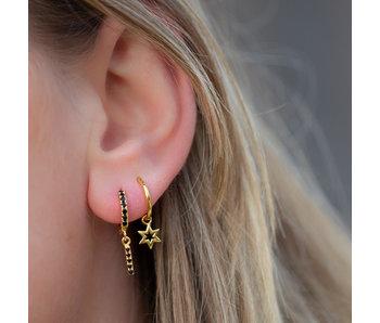 KARMA Goud sterke oorbellen of oorringen open ster
