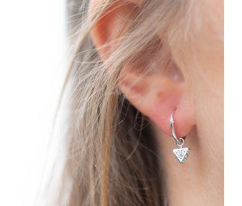 KARMA Zilver oorringen bright triangle