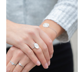 IXXXI Losse ixxxi ring zilver witte steen